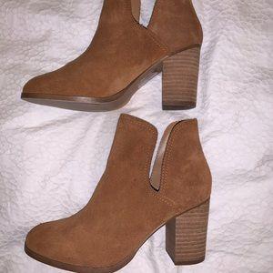 Aldo Camel Suede Cutout Booties - Size 7